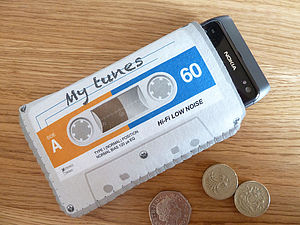 Grey Cassette Tape Phone Case