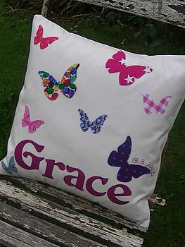 Personalised Butterfly Cushion