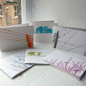 Birds And Landscapes Greeting Cards