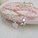 Leather Friendship Bracelet With Silver Charm