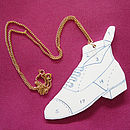 'Enamel' Boot Necklace