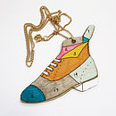 'Clown' Boot Necklace