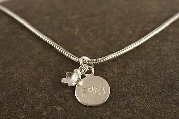 Personalised Silver Forget Me Not Bracelet