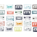 'Mixed tapes' Print