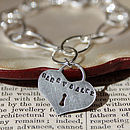 Personalised Heart Padlock Style Bracelet