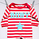 Personalised Single Star Romper