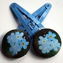 Forget-Me-Not Hair Clips