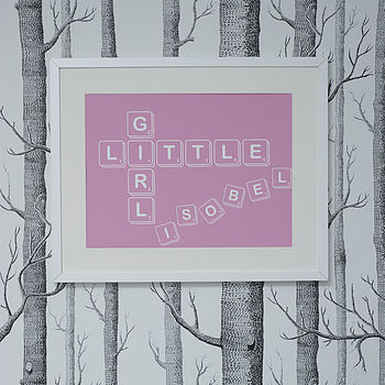 Personalised 'Little Girl' Art Print