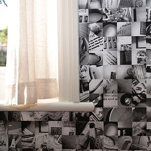 Mi Casa Su Casa Wallpaper Monochrome - home decorating