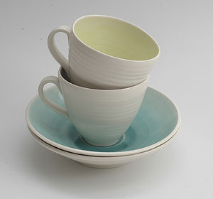 Handmade Cup And Saucer - kitchen
