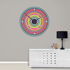 Colour Wheel Wall Clock - clocks