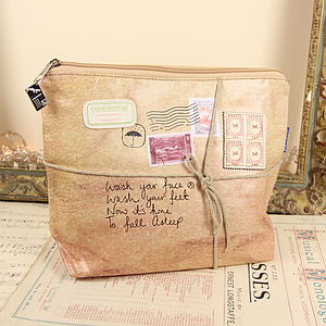 Paper Plane Wash Bag From Disaster Designs - make-up & wash bags