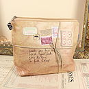Paper Plane Wash Bag From Disaster Designs