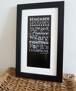 Winston Churchill Champagne Quote Print