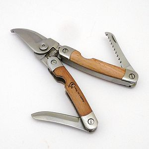 Beech Wood Folding Pocket Secateurs - garden & outdoors