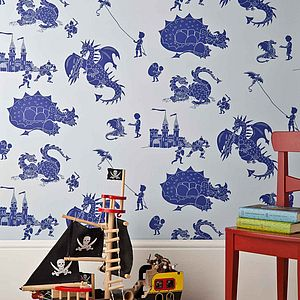 ''Ere be dragons' Dragon Wallpaper - children's room