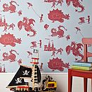 ''Ere Be Dragons' Blue And Red Wallpaper