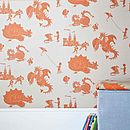 ''Ere be dragons' Taupe Wallpaper