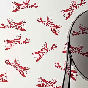 'Spitfires' Aeroplane Wallpaper - children's room