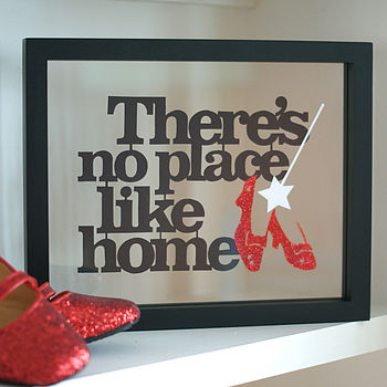Framed 'No Place Like Home' Papercut