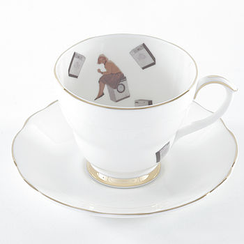 40 Degrees Tea Cup And Saucer