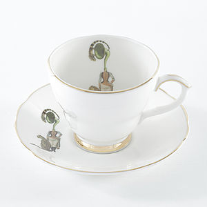 Band Lady Tea Cup And Saucer