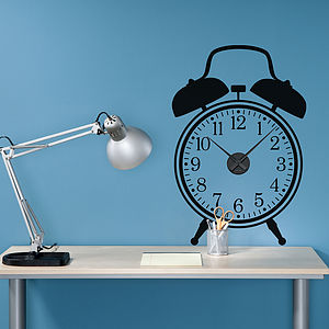 Working Alarm Clock Wall Sticker - decorative accessories