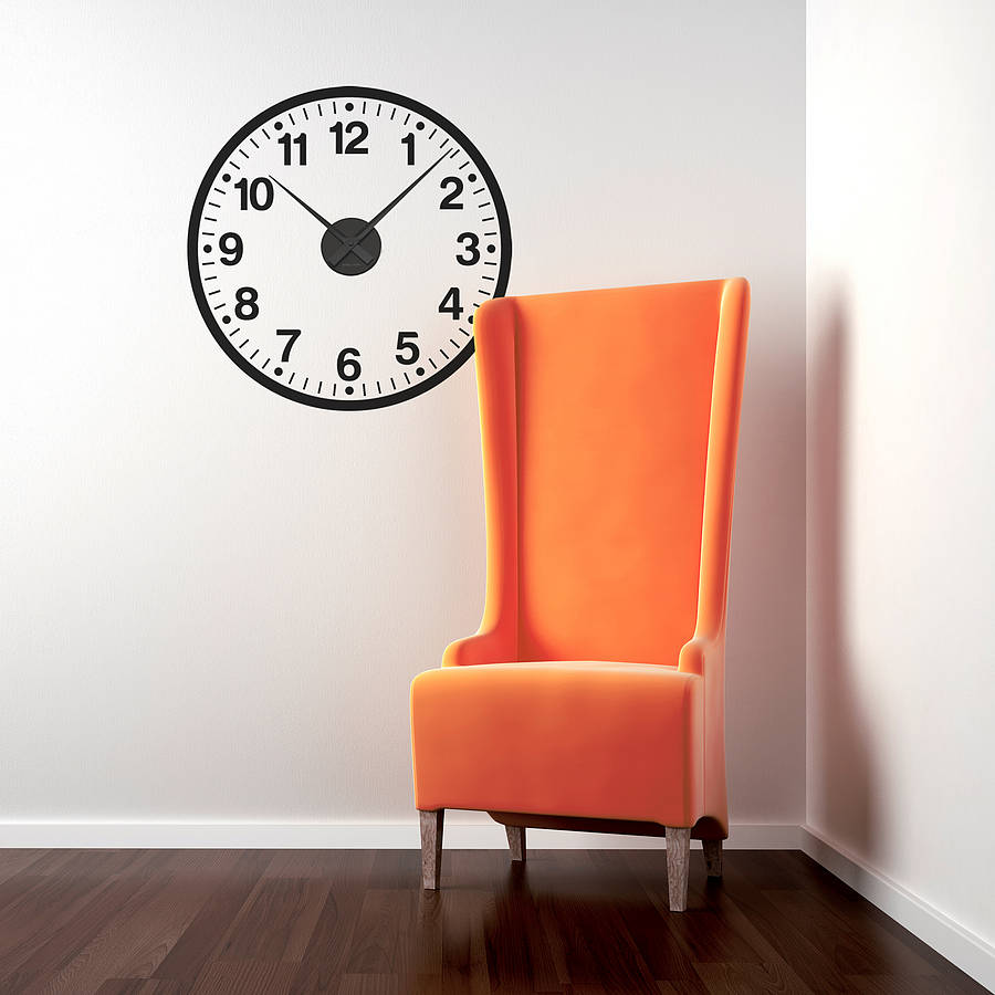 Working Clock Wall Sticker By Spin Collective