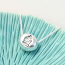 Silver Princess Pebble Necklace