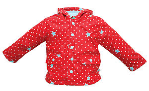 Children's Raincoat In Shooting Stars