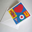 Pop Art I Love You Card without personalising