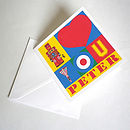 Personalised 'I Love You' Pop Art Valentines Card
