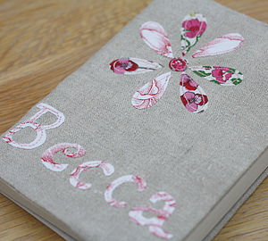 Personalised Notebook - Applique - home
