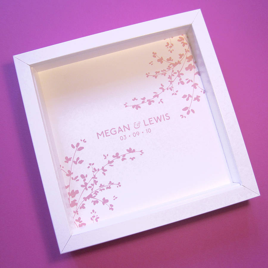 personalised wedding print and card by lovat press ...