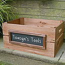 Personalised Crate - Large With Blackboard
