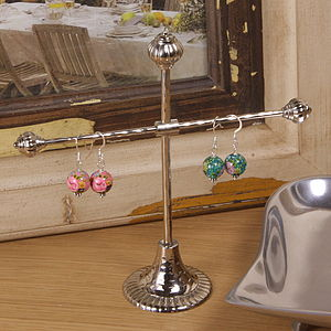 Silver Hammered Effect Jewellery Stands - jewellery stands