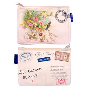 Vintage Travel Inspired Make Up Bag - wash & toiletry bags