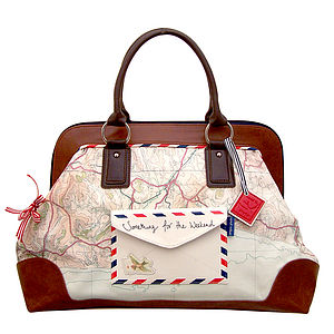 Vintage Travel Inspired Overnight Bag - bags & purses