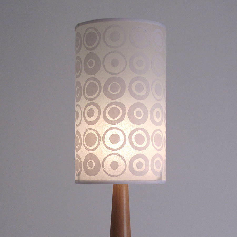 modern spot long drum lampshade by helen rawlinson. Black Bedroom Furniture Sets. Home Design Ideas