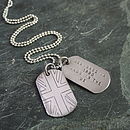 Personalised 'In The UK' Dog Tags