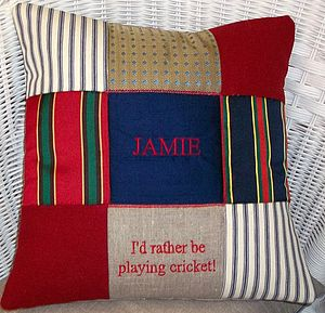 'I'd rather be playing..' Cushion - gifts for him