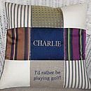 'I'd rather be playing..' Cushion