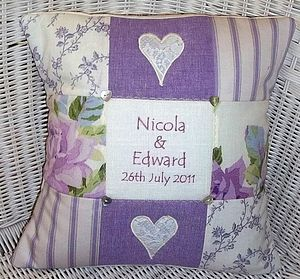 Floral Wedding Cushion - personalised cushions