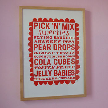 Pick'n'Mix Screenprint