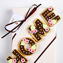 Homemade Shortbread Mr And Mrs Biscuit Letters