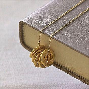 Mini Karma Necklace In Gold