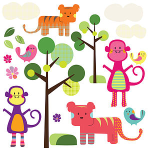 Jungle Animal Wall Stickers - wall stickers