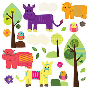Animal Friends Wall Stickers - decorative accessories
