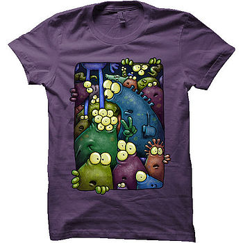 Crowd Of Friendly Monsters T-Shirt