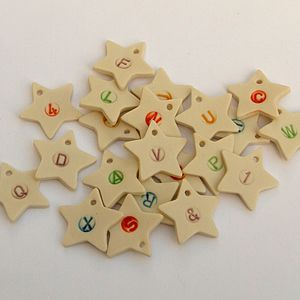Personalised Handmade Star Pendants - table decorations